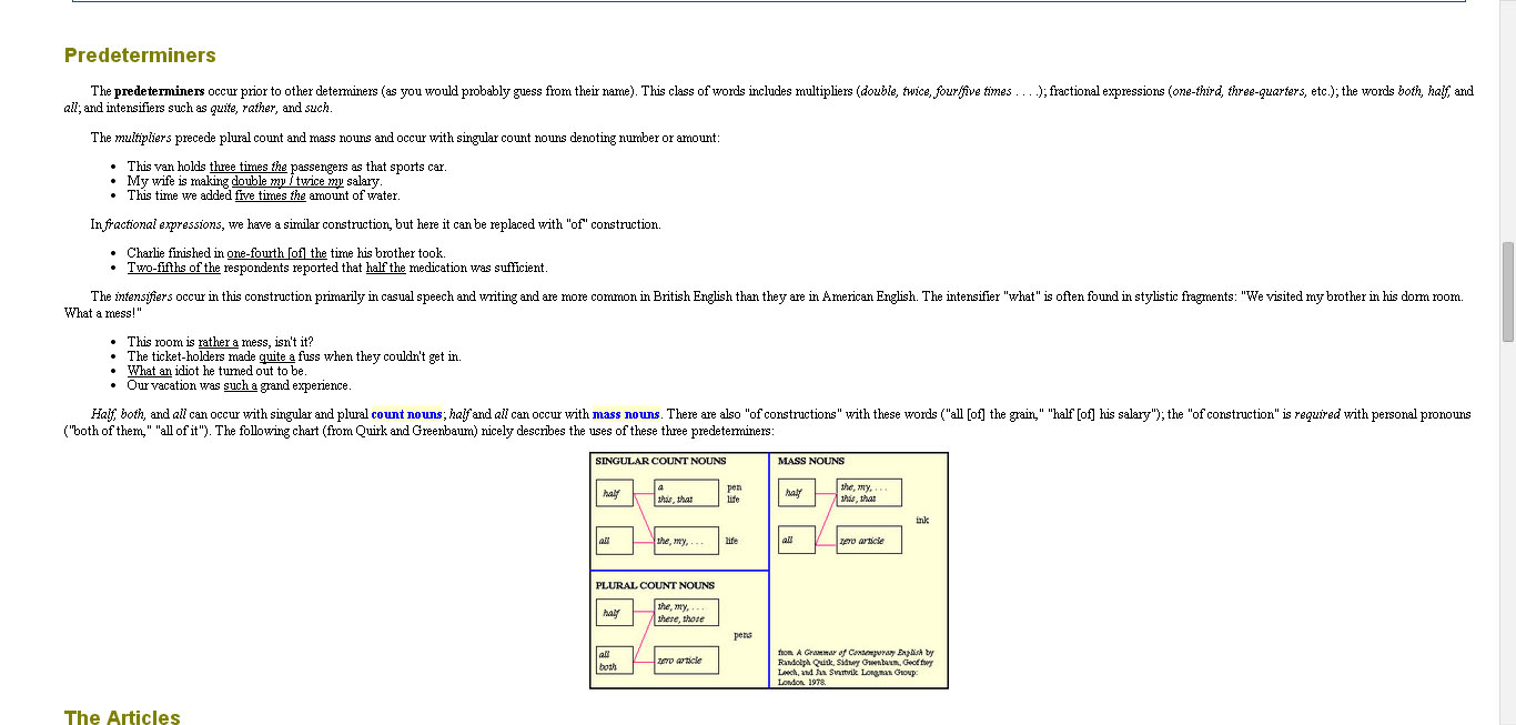 Guide to grammar and writing free english grammar courses online screenshot showing a grammar lesson using a chart to emphasize important parts of the lesson baditri Choice Image